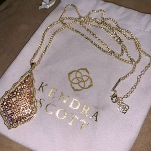 Kendra Scott rose gold / gold  filagree necklace